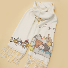 Anime Neko Atsume Scarves Scarf Cosplay Soft Cats Backyard Shawl Fashion New Xmas CHRISTMAS Gifts Unisex