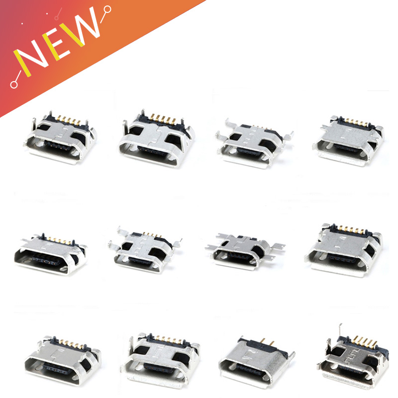 12 Models Micro Usb Connector 5Pin Usb Socket Female For Mp3//4//5 Huawei Lenovo Zte And Other Mobile Tabletels
