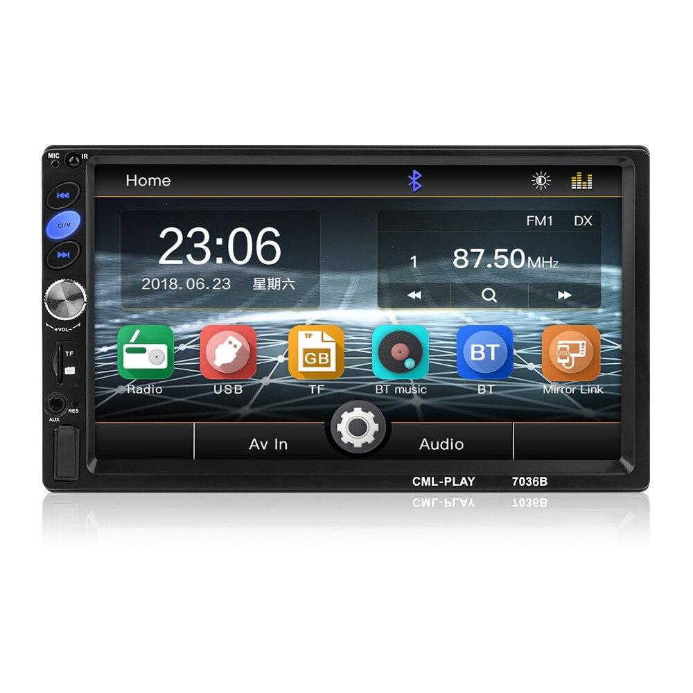 Professioneller Verkauf 2din Auto Radio 7 Zoll Presse Android-player Subwoofer Mp5 Player Autoradio Bluetooth Rückansicht Kamera Band Recorder