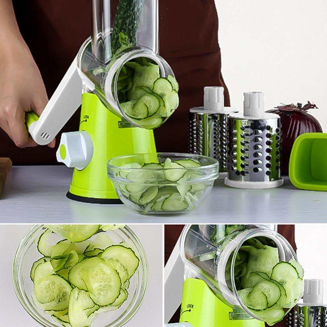 Multi function Chopper Hand Roller Rotary Design Kitchen Grater Vegetable Food Vegetables, Food, etc. Cutter