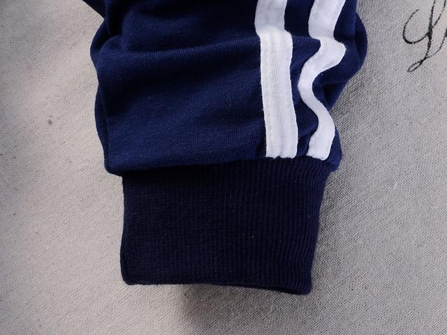 2019 Spring Baby Casual Tracksuit Children Boy Girl Cotton Zipper Jacket Pants 2Pcs/Sets Kids Leisure Sport Suit Infant Clothing 4