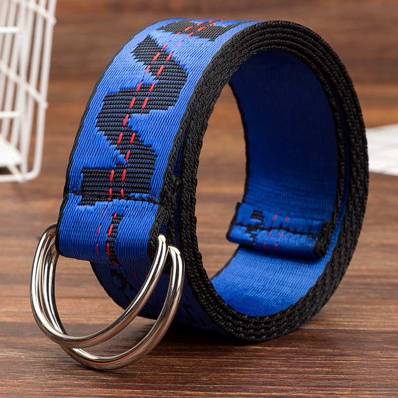 Fashion Personality Letter KINGSIZE Belts Women European And American Style High Quality Canvas Belt Big Size Belt