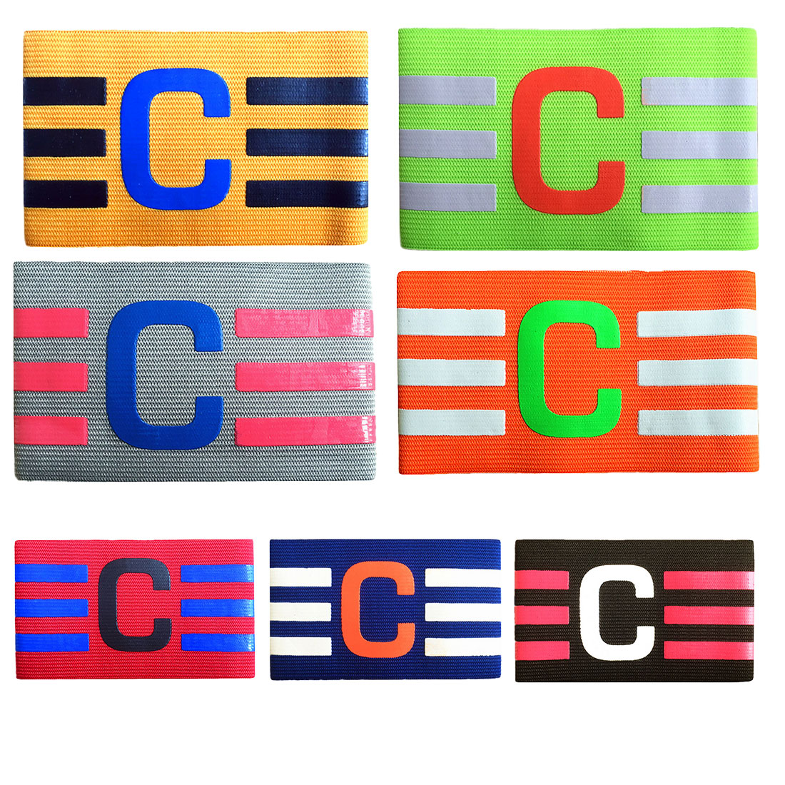 Breathable Nylon Football Soccer Sweat Band Adjustable Elastic Captain Armband Elbow Exercise Health Care For Adult Kids