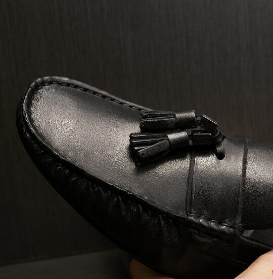 66242a088 Quente 2 Verão Lazer Moda Mocassins Franja Sapatos 1 Couro Peas Borla  Primavera De Sapato Homens ...