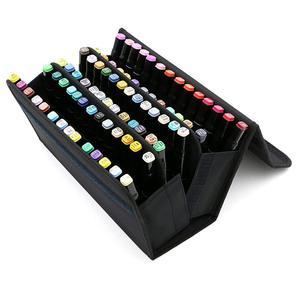 Image 3 - Ppyy novo 80 slots de grande capacidade dobrável marcador caneta caso arte marcadores caneta armazenamento saco de transporte durável esboço ferramentas organizador