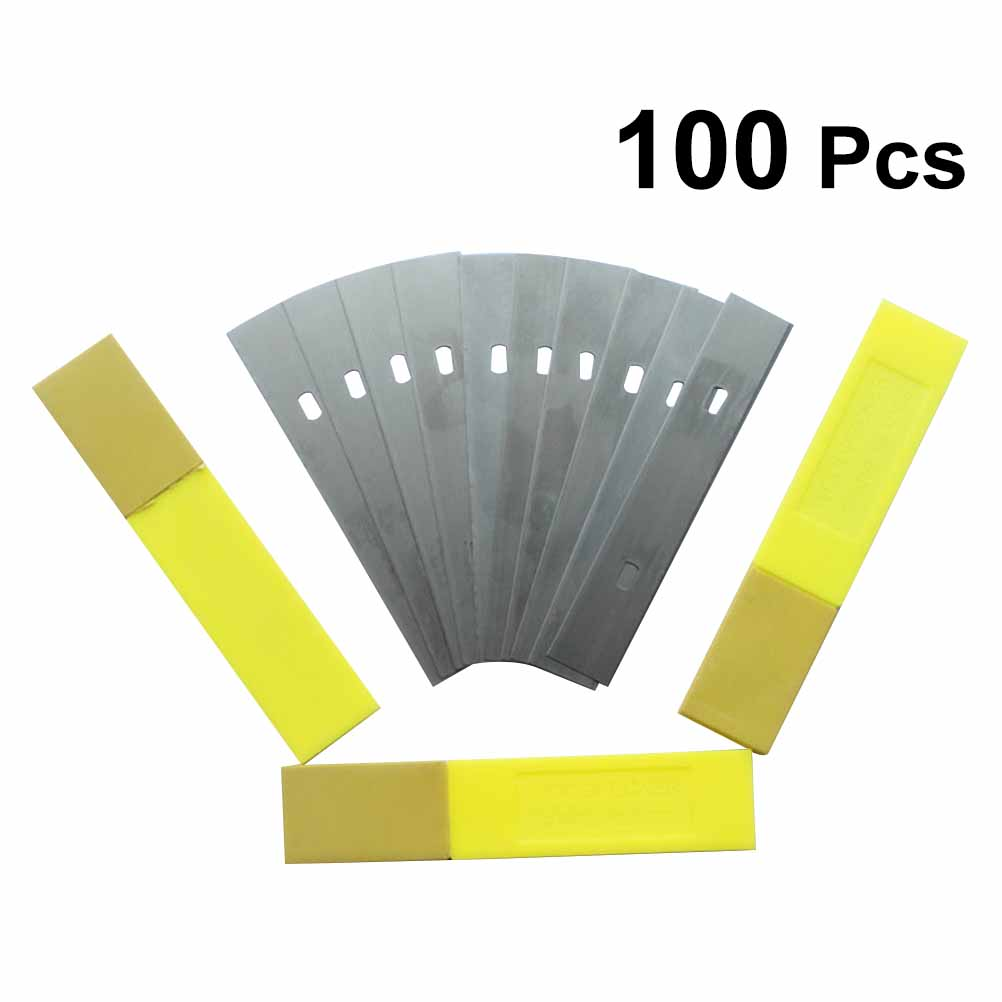 100PCS Scraper Blade Long Time Use High Carbon Steel High Quality Cleaning Tool Blade for Ceiling Aquarium Mirror Clean in Knives from Tools