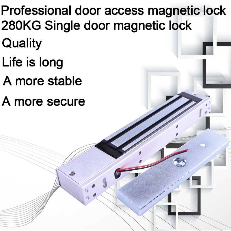 12V Door Lock 280KG 600LB Electric Lock For Door Access Control System Holding Force High Quality Electromagnetic Lock Magnetic direct factory door lock electric magnetic lock gate opener suction holding force electromagnetic for access control system