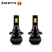 Zarpooz Car Headlight H1 H3 H4Led H7 H8 H10 H27 HB4 X5 Car LED Two Color