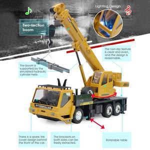 Image 5 - Fernbedienung Legierung Bau Auto Bagger 2,4G 8 CH 1:24 Legierung Bagger Kran RC Bau Fahrzeug Spielzeug Legierung Auto modell