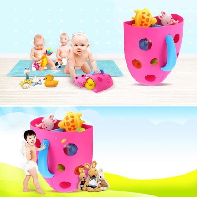 2019 New Bath Toys Scoop Organizer Storage Bin Toddler Kid Net Super Scoop Tub Newborn Baby Bath Toy Clockwork Classic Toys Gift