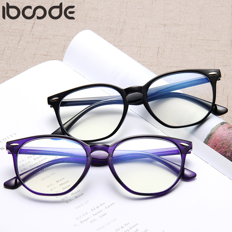 Iboode Unisex Radiation Protection Glasses Computer Eyeglasses Frame Anti-fatigue Goggles Blue Film Anti-UV Plain Mirror Oculos