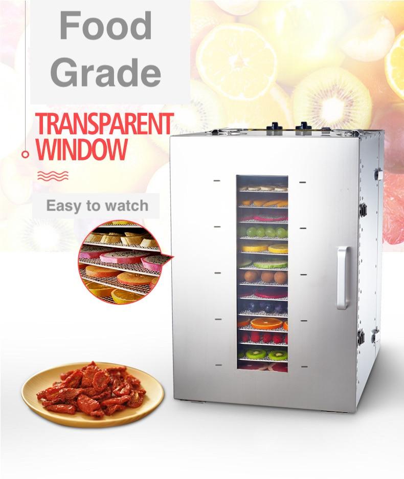 Capacità di rotazione Elettrico Grande asciugatrice per la frutta a base di carne di commercio pet food verdura tè/luce UV l'aggiunta di