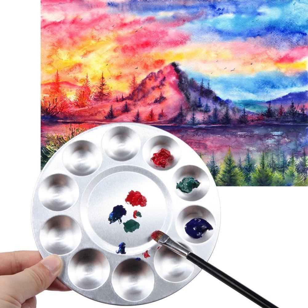 Adeeing Holes Aluminum Round Color Palette Gouache Watercolor Art Supplies
