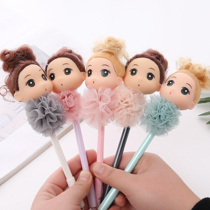 1 шт., путающая девушка Lytwtw, кружевная кукла, игрушка, гелевая ручка, школьные принадлежности, канцелярские принадлежности, милый, креативный...