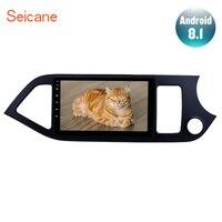 Seicane 9 Android 8,1 мультимедийный плеер для 2011 2012 2013 2014 KIA Picanto Morning 2Din Зеркало Ссылка AUX USB автомобильный навигационный GPS радиоприемник