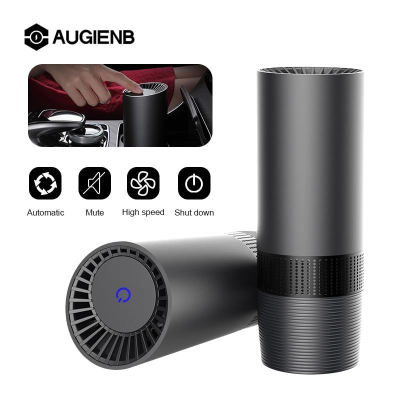 AUGIENB Mini escritorio de casa purificador de aire HEPA el aire fresco de iones negativos purificador de oxígeno elimina PM2.5 humo olores polvo limpiador