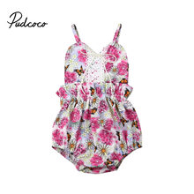 Newborn Infant Baby Girls Flower Lace Romper Jumpsuit Outfits Sunsuit for Infant Children Clothes Kid Clothing(China)