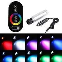1Set Car Vehicle 6W RGB LED Fiber Optic Light Source + RF Remote Control+Car Use Plus DC 12V RGB led Lamp