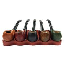 [Ready Stock]Smoking Pipe Accessories 5 Pipes Rack Rose Wooden Smoking Stand Safer And More Practical Tobacco Holder