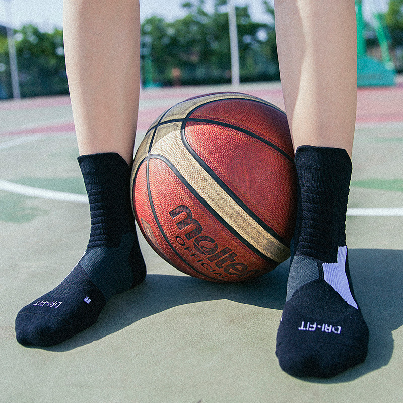 Image 4 - Professional basketball socks tube deodorant Thermal Winter Thick Compression Ski Tubing Outdoor sports fitness Sweat Towel Sock-in Cycling Socks from Sports & Entertainment
