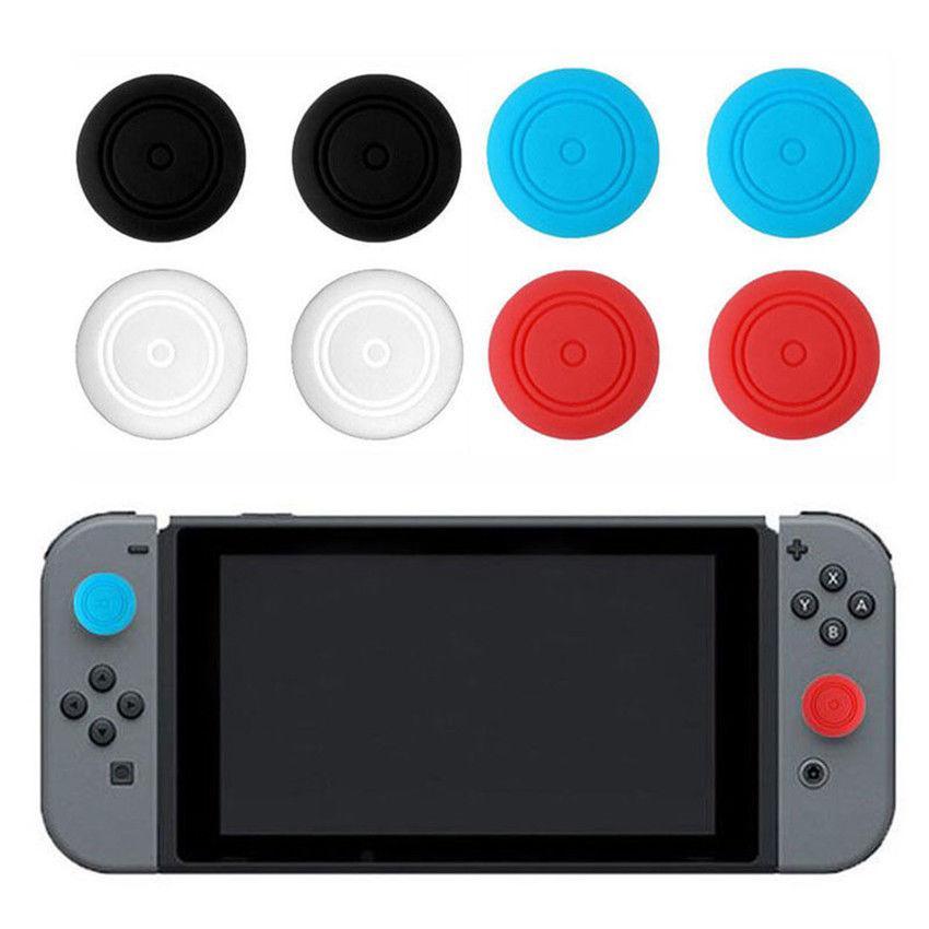 Funda EastVita 6 uds de silicona para agarre de pulgar para Nintendo Switch NS Joy Con Stick Caps Skin para controlador Joy-Con