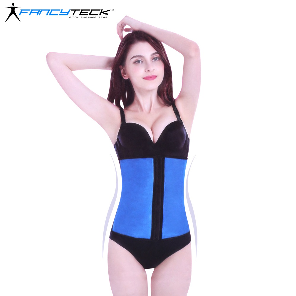 Fancytack Latex Waist Trainer Corset Steel Bone Cinchers Workout Women Slim Shaper Body Belts XS-2XL Corsets