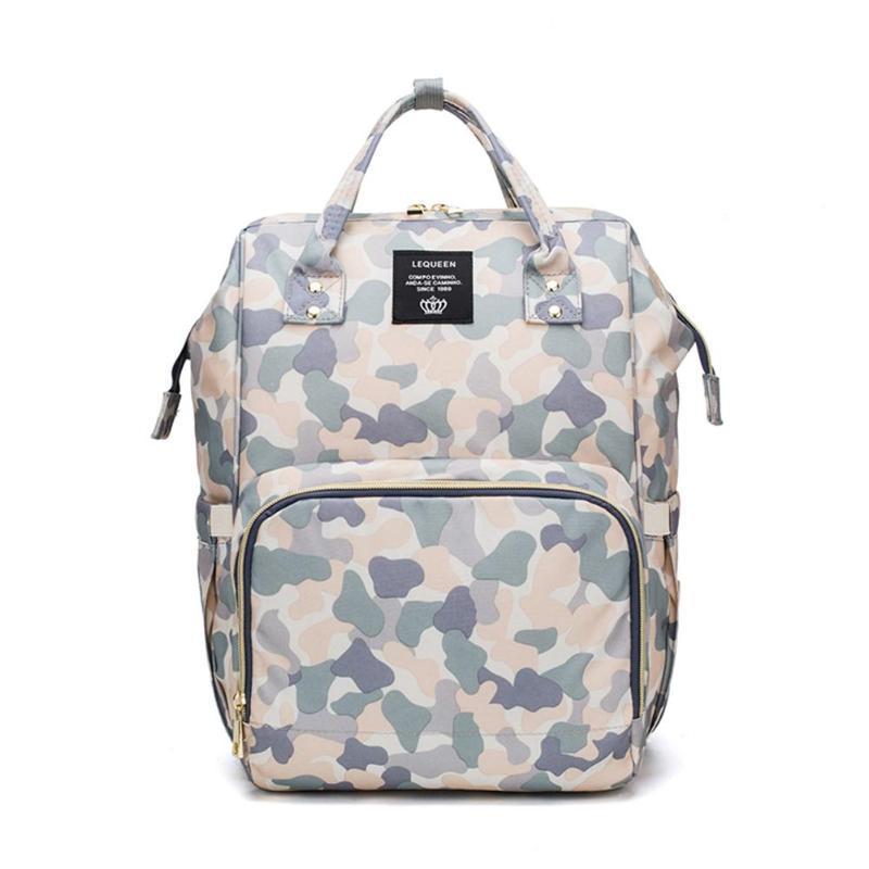 Oxford Cloth Baby Bag For Mummy Camo Print Diaper Bag Backpack Large Capacity Travel Maternity Nursing Bag FCI#