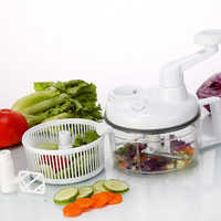 1pcs Manual Vegetable Chopper Multifunctional Hand Shredder Stirrer Triple Kitchen Tools