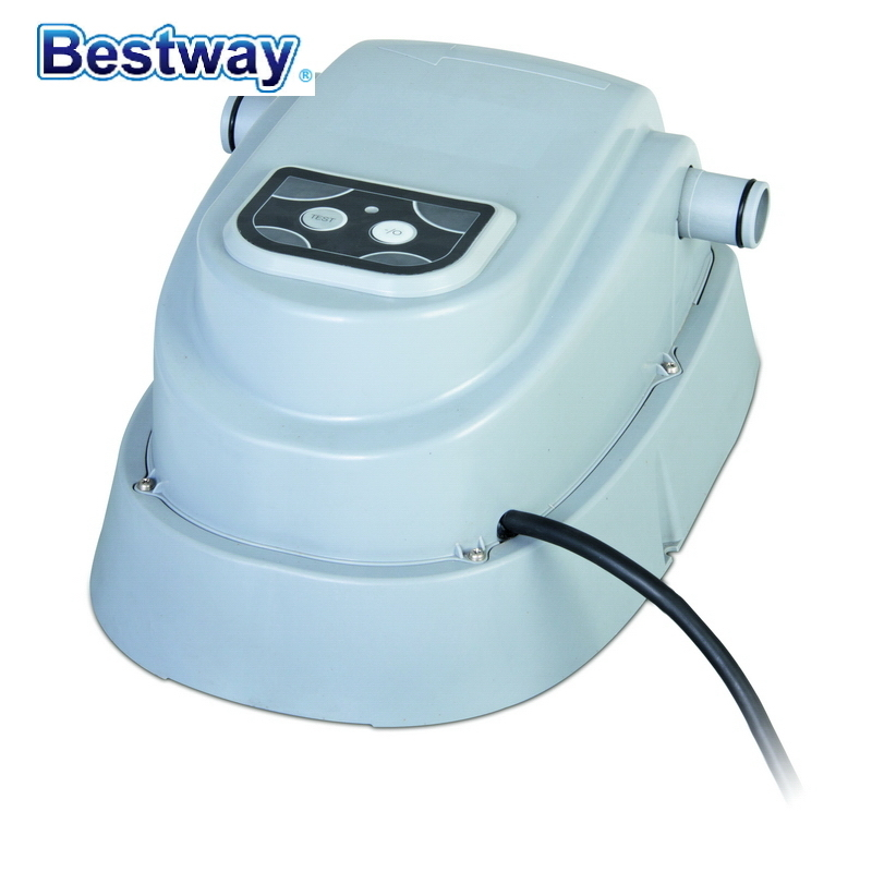 58259 Bestway Digitally-controlled POOL HEATER Used Wz 1000 Gal/h(3785 L/h) Filter For 400-4500 Gal/1520-17035 L Pools 220-240V