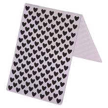 Mini Heart Pattern Plastic Embossing Folder Clear Stamps for DIY Scrapbooking Photo Album Cards Making Embossing Dies Craft(China)