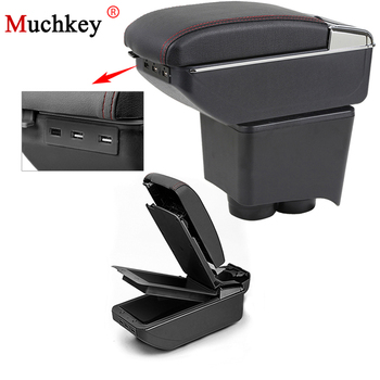 For Volkswagen VW Polo 9N 2002 To 2009 Car Armrest Box With Usb Central Store Content Storage Box Cup Holder Car Styling