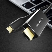 Rock Usb Type C To Hdmi Adapter Male USB C Type c plug Hdmi Converter For Macbook Huawei Matebook Smasung Xiaomi Compatible HDTV