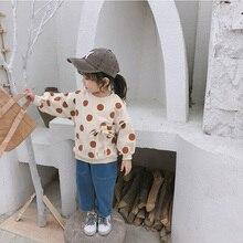 Малыша ребенок девочка детская одежда толстовки случайные пуловер с круглым вырезом пижамы с длинным рукавом