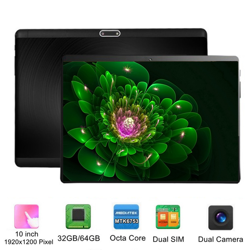 International Computer 10 Inch Tablet PC Octa Core Android 32GB 64GB 8 Core 7 8 9 10 10.1 Resolution 1920x1200