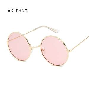 AKLFHNC 2019 Retro Round Sunglasses Women Mirror Female