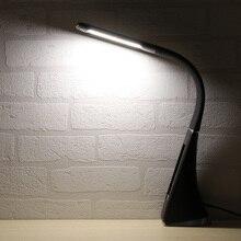 5 Вт светодиодный сенсорный настольная лампа Регулируемая лампа Настольный светильник будильник Календарь Отображение температуры времени 3 уровня яркости