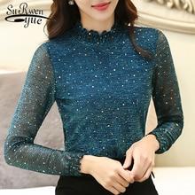 Autumn Lace Women Blouse Shirt Fashion Woman Blouse