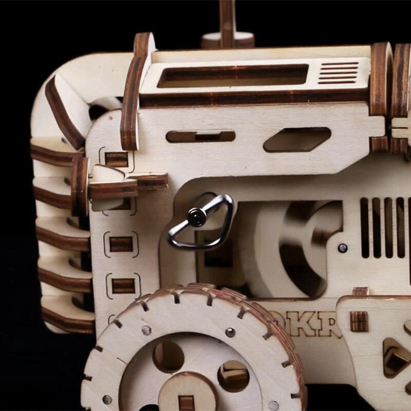 Robotime bricolage créatif engins d'entraînement tracteur 3D en bois modèle construction Kits jouets loisirs cadeau pour enfants adulte LK401 - 5