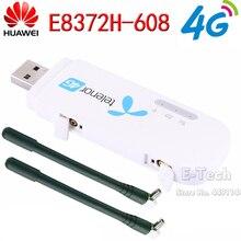 Разблокированный huawei E8372 E8372h-608 4G LTE 150 Мбит/с USB модем и антенна USB WiFi ключ 4G модем carfi поддержка 10 пользователей Wifi