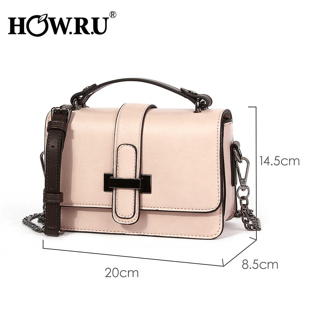 dcb6d65a65e70 ... HOWRU Brand PU Leather Women Bags Designer 2019 Small Chain Side Bag  Fashion Woman Crossbody Shoulder ...