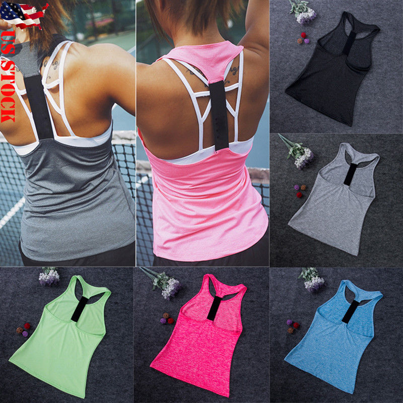 Women Vest Workout   Tank     Top   Sport Gym Camis Fitness Casual   Tank