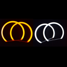 2pcs Angel eyes Led White Halo Cotton Light Car Smd For BMW E36 E38 E39 E46 Projector auto lighting (4x131mm) free shipping 4x high power xenon white smd led light angel eyes projector halo rings marker kit for bmw e36 e38 e39 e46
