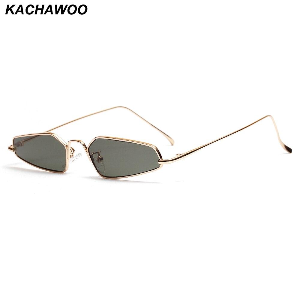 db37ceb13 Kachawoo الرجعية القط العين النظارات الشمسية النساء 2019 مضلع رقيقة معدن الرجال  نظارات شمسية الملحقات الصغيرة