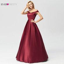 Occasion-Gowns Evening-Dresses Ever Pretty A-Line Wedding Off-Shoulder Burgundy Elegant
