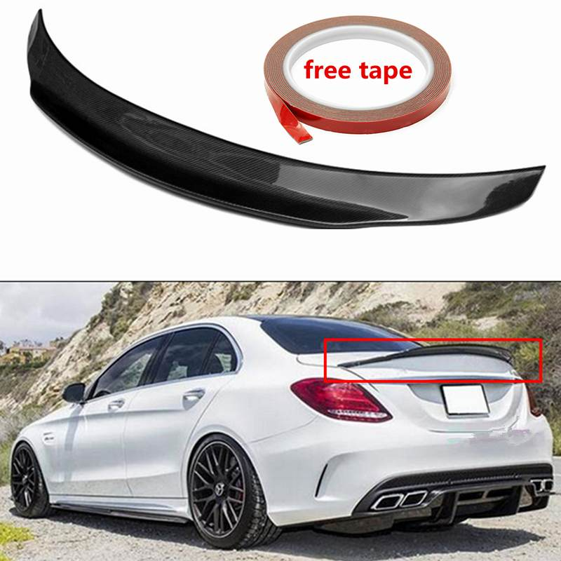 PS STYLE Real Carbon Fiber Performance Trunk Highkick Trunk Spoiler Wing For Mercedes For Benz W205 C63 For AMG PSM 2015-2017