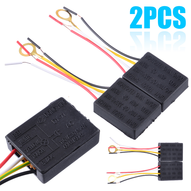 Mayitr 2pcs AC 100 240V 3 Way Touch Sensor Switch Desk light Parts Touch Control Sensor Dimmer For Bulbs Lamp Switch