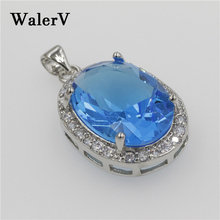 Pendant Jewelry Crystal-Stone Girl-Set Stamps-Color Charm Gifts Blue Women Water Sea