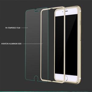Image 2 - 9D Aluminium Legierung Display schutz Auf Die Für iPhone 6 7 8 Plus X Voll Gehärtetem Glas Für iPhone 11 pro 8 SE 5s Schutz Glas