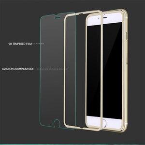 Image 2 - Ochraniacz ekranu ze stopu aluminium 9D na iPhone 6 7 8 Plus X pełne szkło hartowane dla iPhone 11 pro 8 SE 5S szkło ochronne