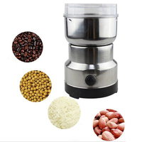 1pc Household Electric Powder Grinder Stainless Steel Grinding Machine For Spice Nuts Grains Coffee Beans With AU Plug Converter